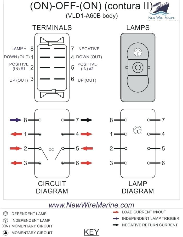 Carling Switch Wiring Diagram 5 Pin Ho 6055 Winch Rocker Switch Wiring Diagram Schematic Wiring