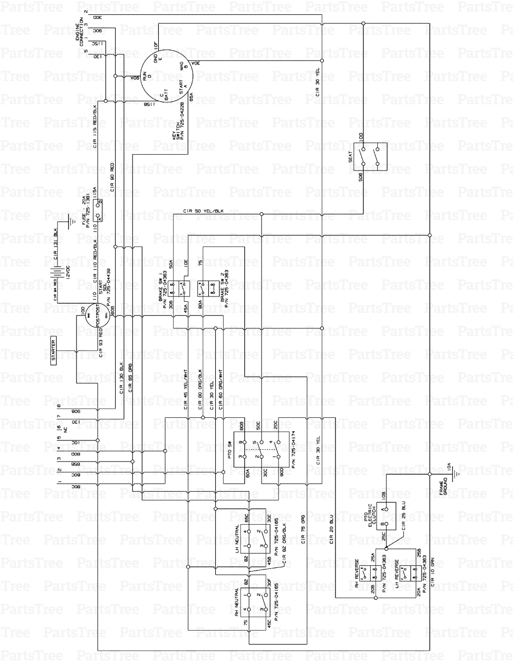Cub Cadet Zero Turn Mower Wiring Diagram Cub Cadet Safety Switch Diagram Wiring Library