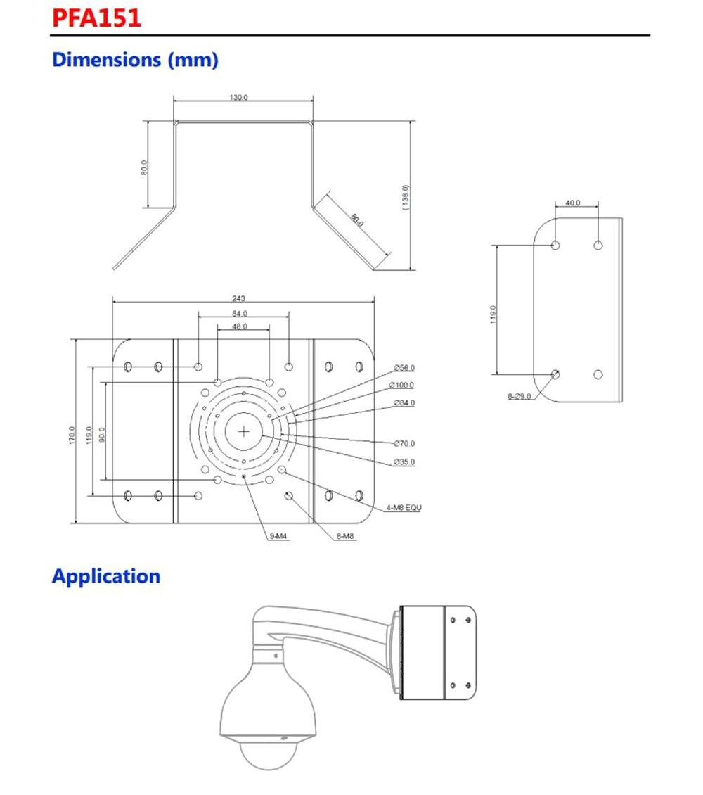 dahua corner mount bracket pfa151 for ptz camera installation jpg
