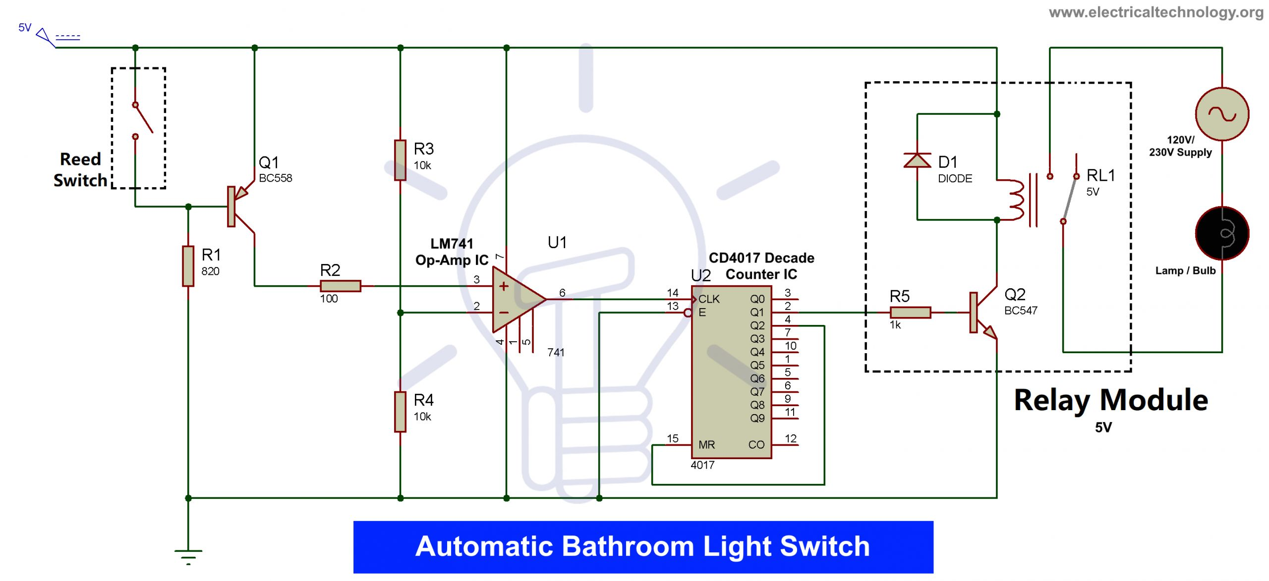 automatic bathroom light switch circuit diagram png