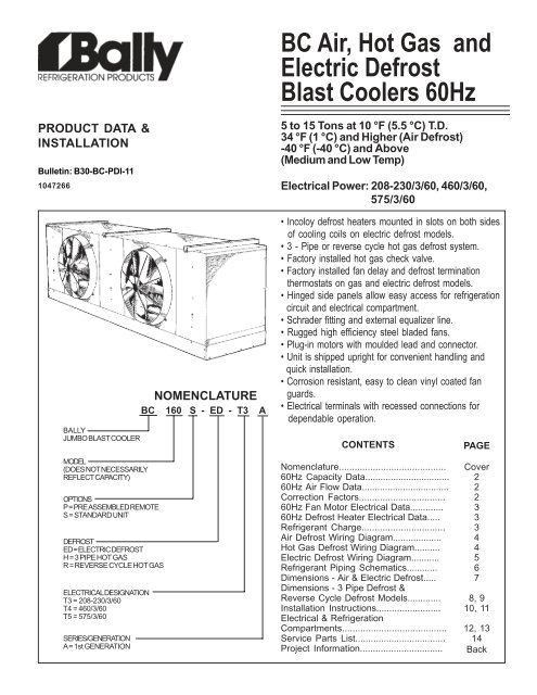 bc air hot gas and electric defrost blast coolers 60hz bally jpg