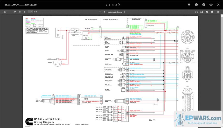 cummins full set wiring diagram png