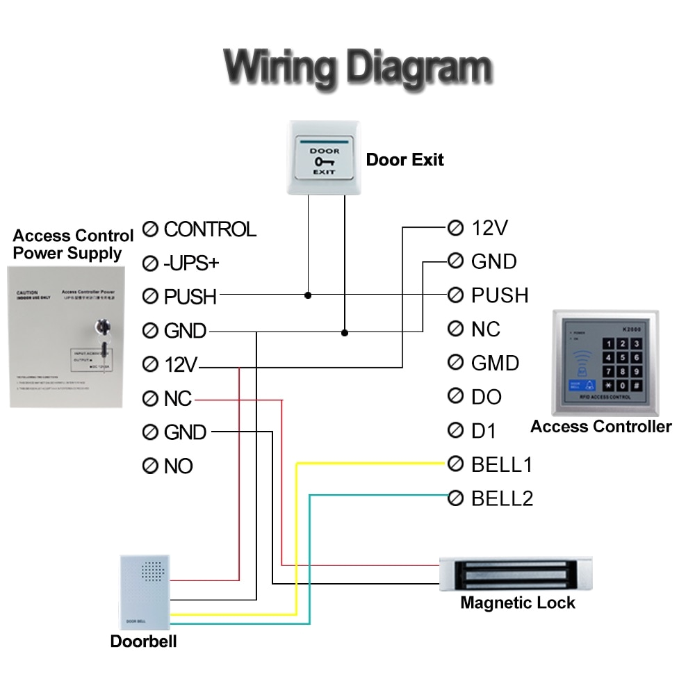 Electromagnetic Door Lock Wiring Diagram Us 32 55 15 Off Ac90v 260v 5a Access Control Power Supply Box Dc12v Ups Backup Battery for All Kinds Of Electric Door Lock with Time Delay Battery