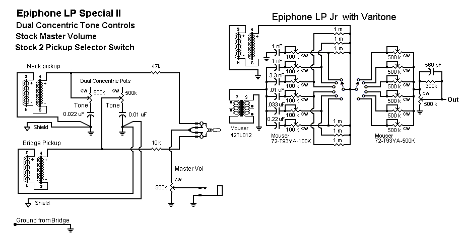 epiphone special ii les paul wiring diagram basic electronics gif