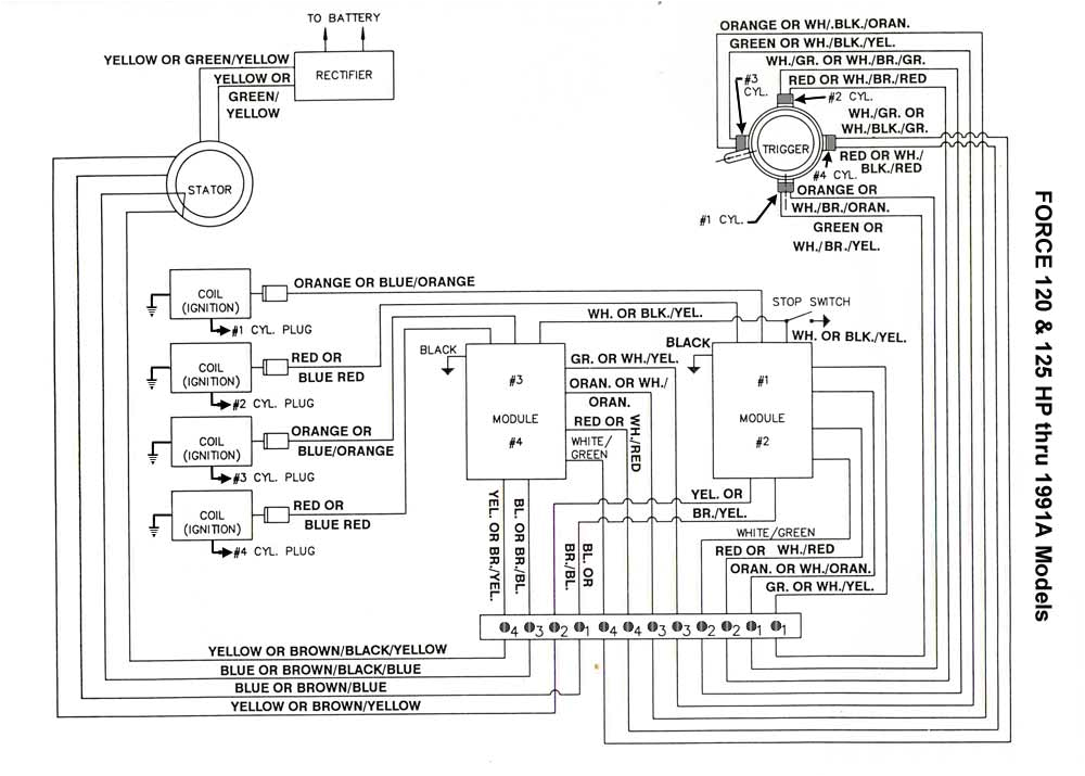 Force 125 Outboard Wiring Diagram force Wiring Diagram 2 Wiring Diagram