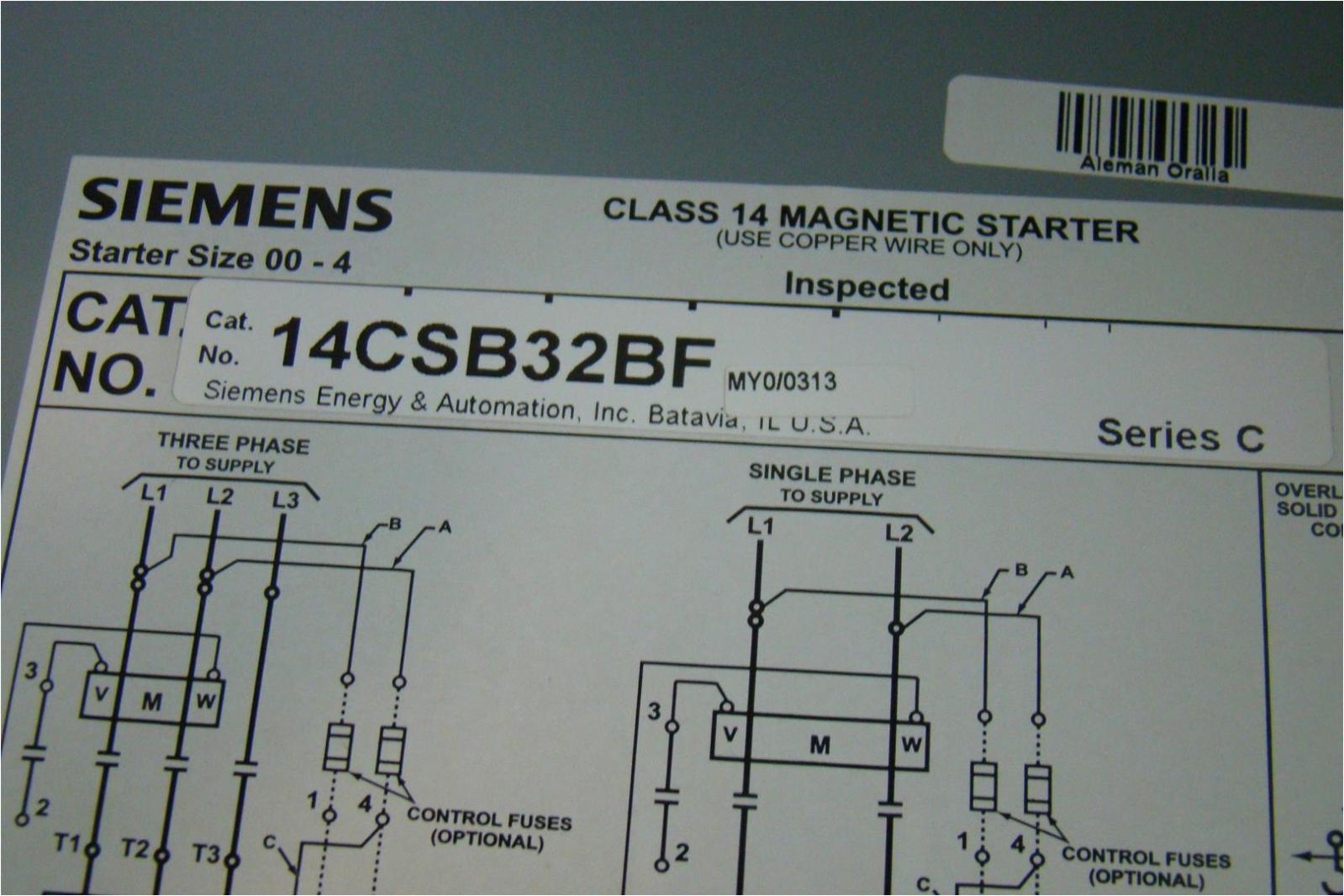 age164 siemens heavy duty motor starter class 14 magnetic starter 3ph 200 230vac maxamp18 48asb3m20 1 5 jpg