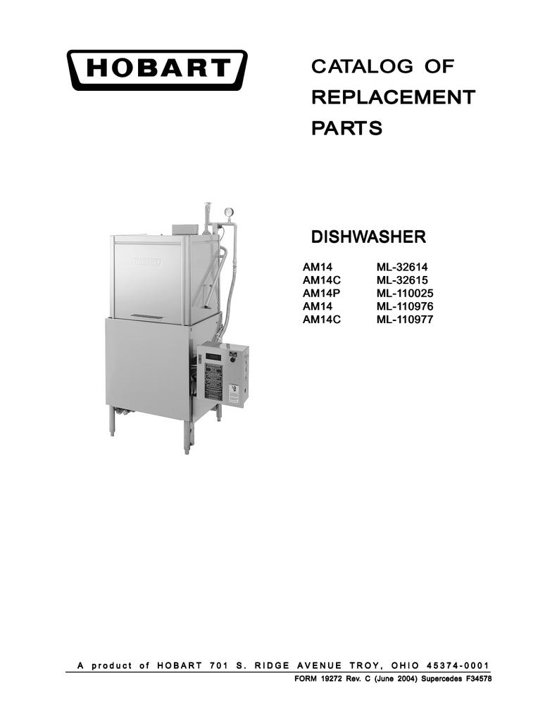 Hobart Dishwasher Am14 Wiring Diagram Am14 Ml 110976 Manualzz