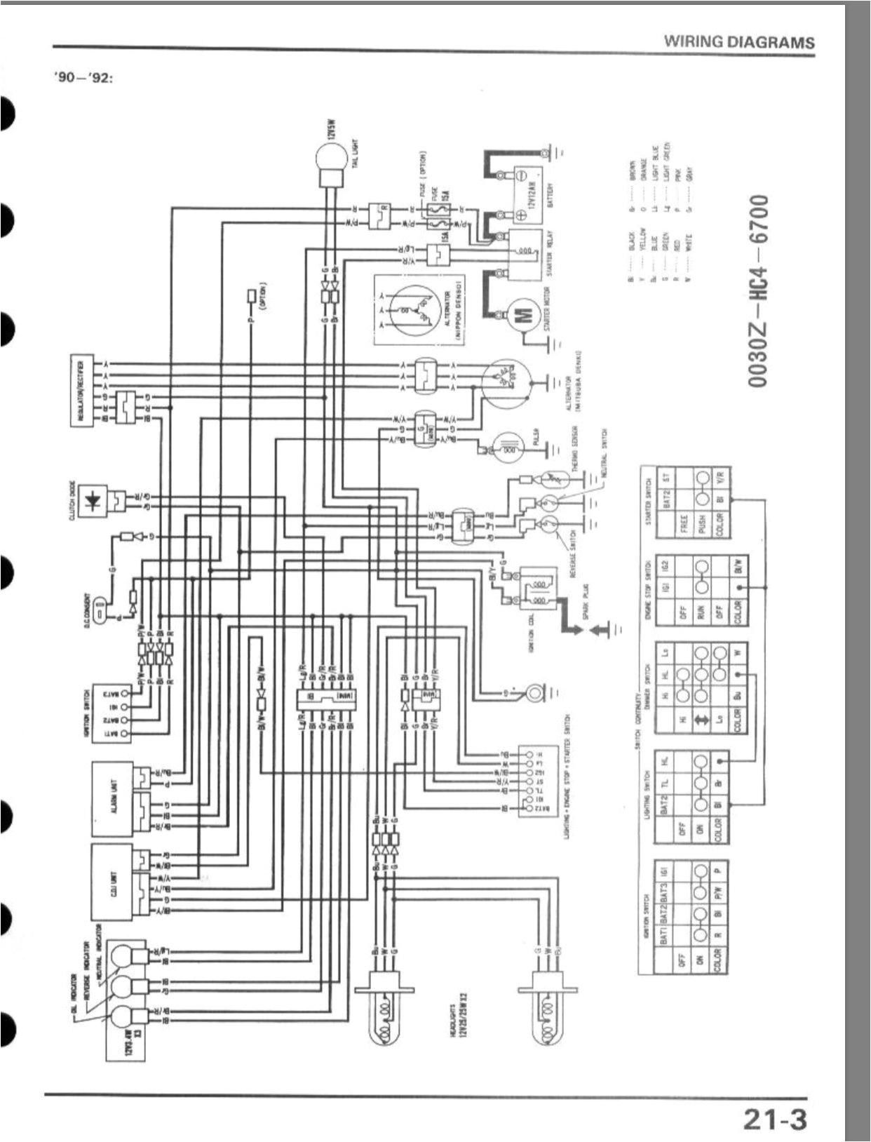 Honda Fourtrax 250 Wiring Diagram 1988 Honda Fourtrax Electrical issues Honda atv forum