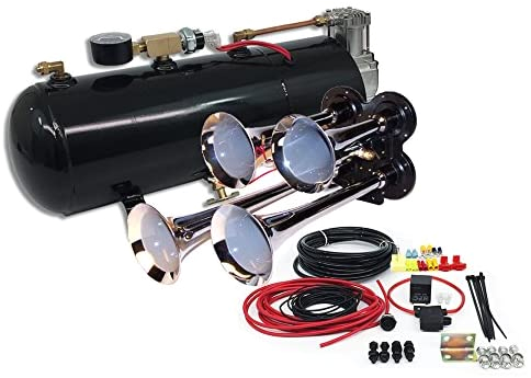 Horn Tech Train Horn Wiring Diagram Mpc B1 0419 4 Trumpet Train Air Horn Kit Fits Almost Any Vehicle Truck Car Jeep or Suv