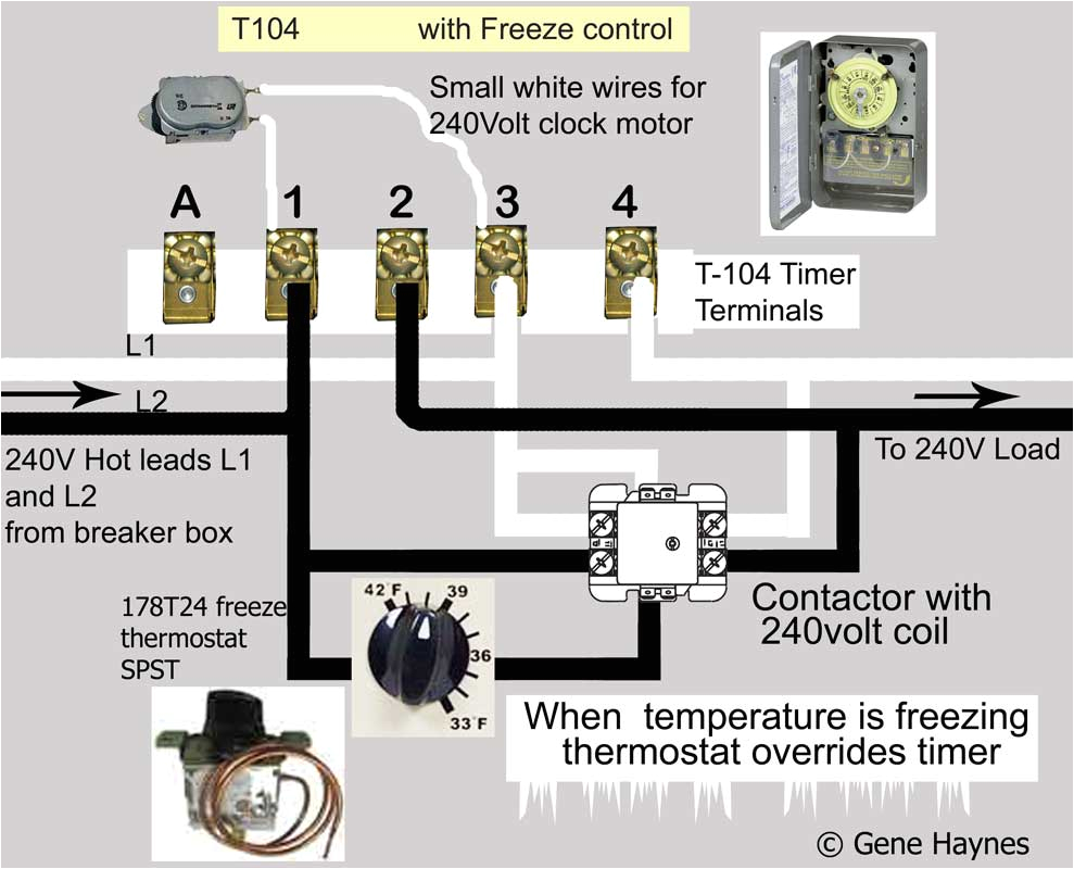 how to wire intermatic t104 and t103 and t101 timers jpg
