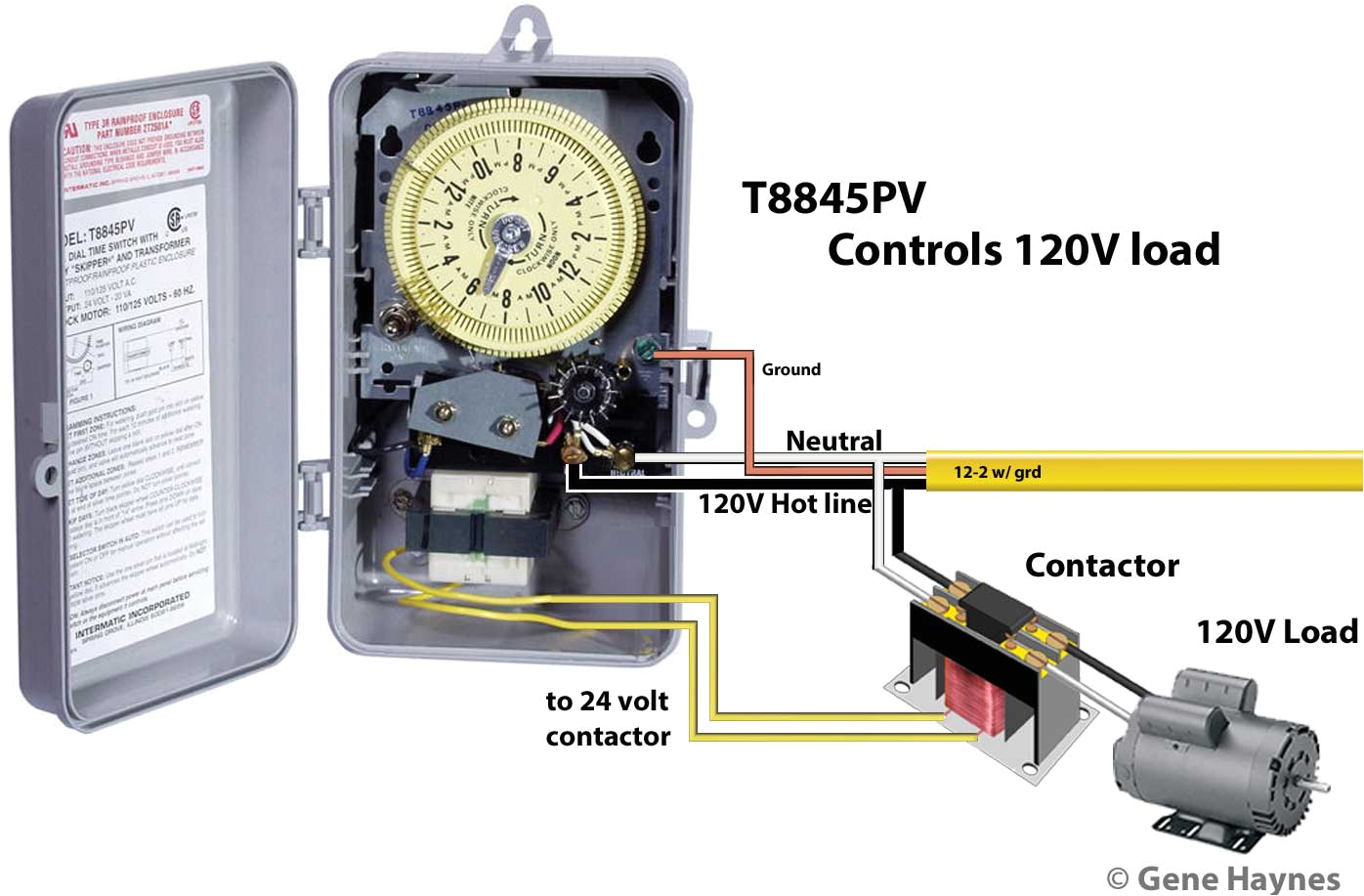 wiring diagram for intermatic t8845pv timer basic electronics jpg