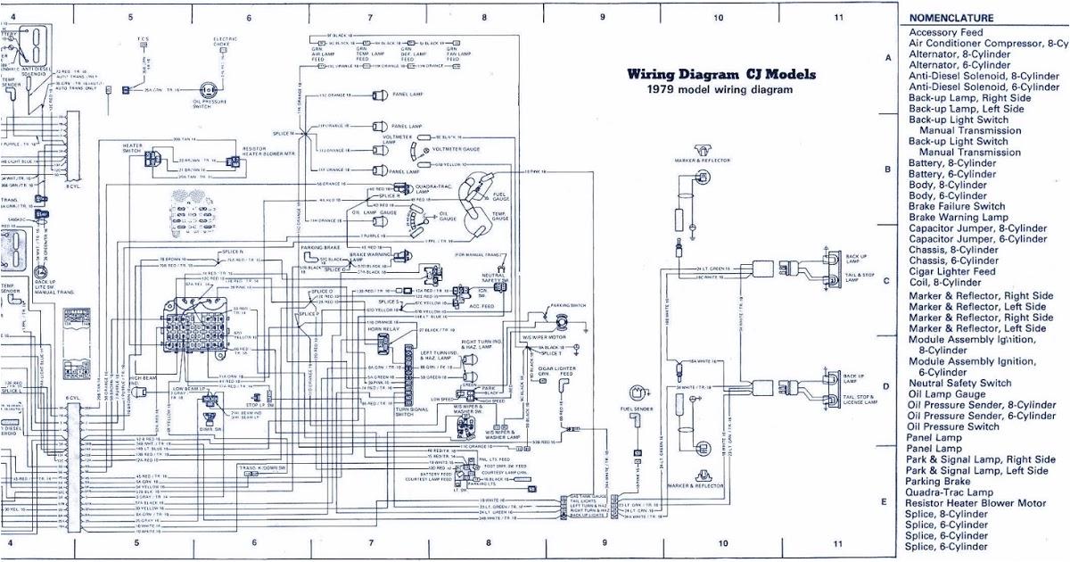 Jeep Cj7 Tail Light Wiring Diagram Instrument Wiring Diagram 1979 Jeep Cj7 Diagram Base Website