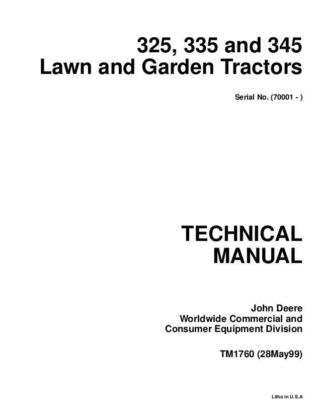 John Deere 345 Wiring Diagram John Deere 345 Lawn Garden Tractor Service Repair Manual
