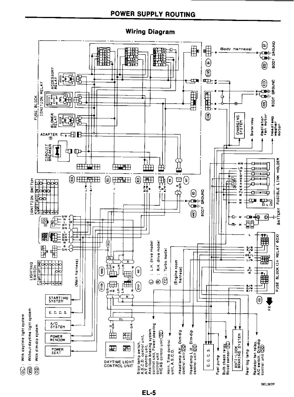 power supply wiring diagram nissan 300zx gif
