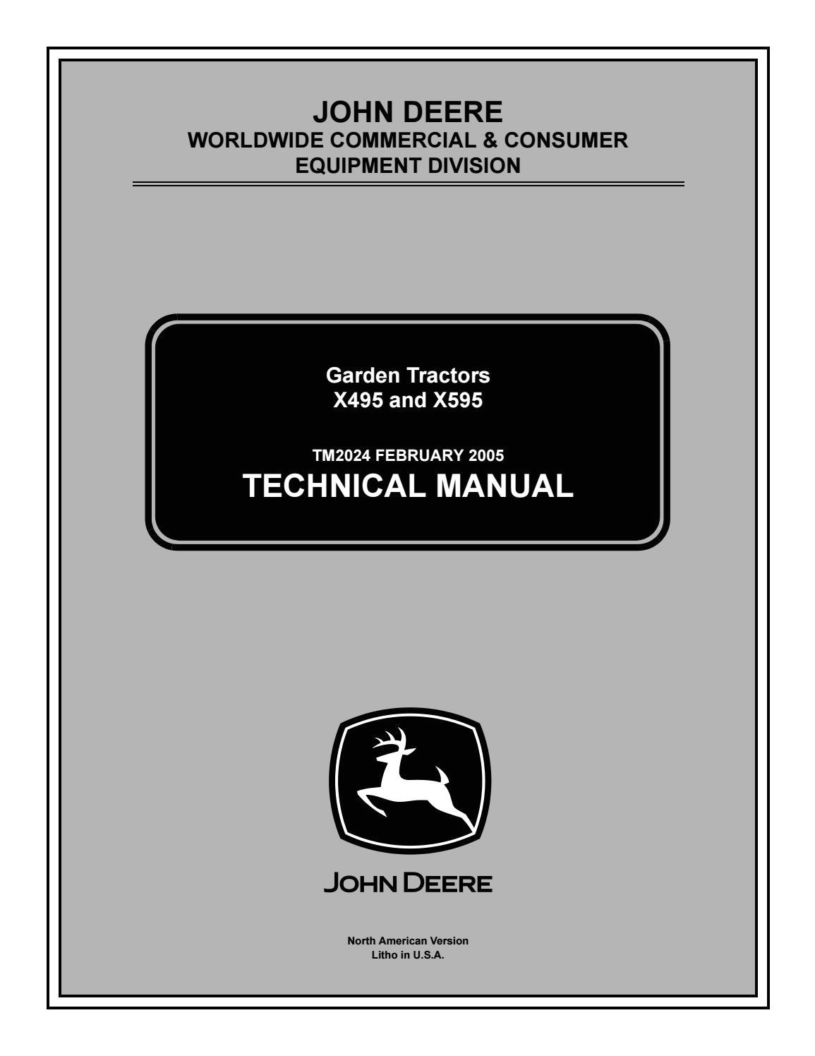 John Deere X495 Wiring Diagram John Deere X495 4wd Lawn Garden Tractor Service Repair