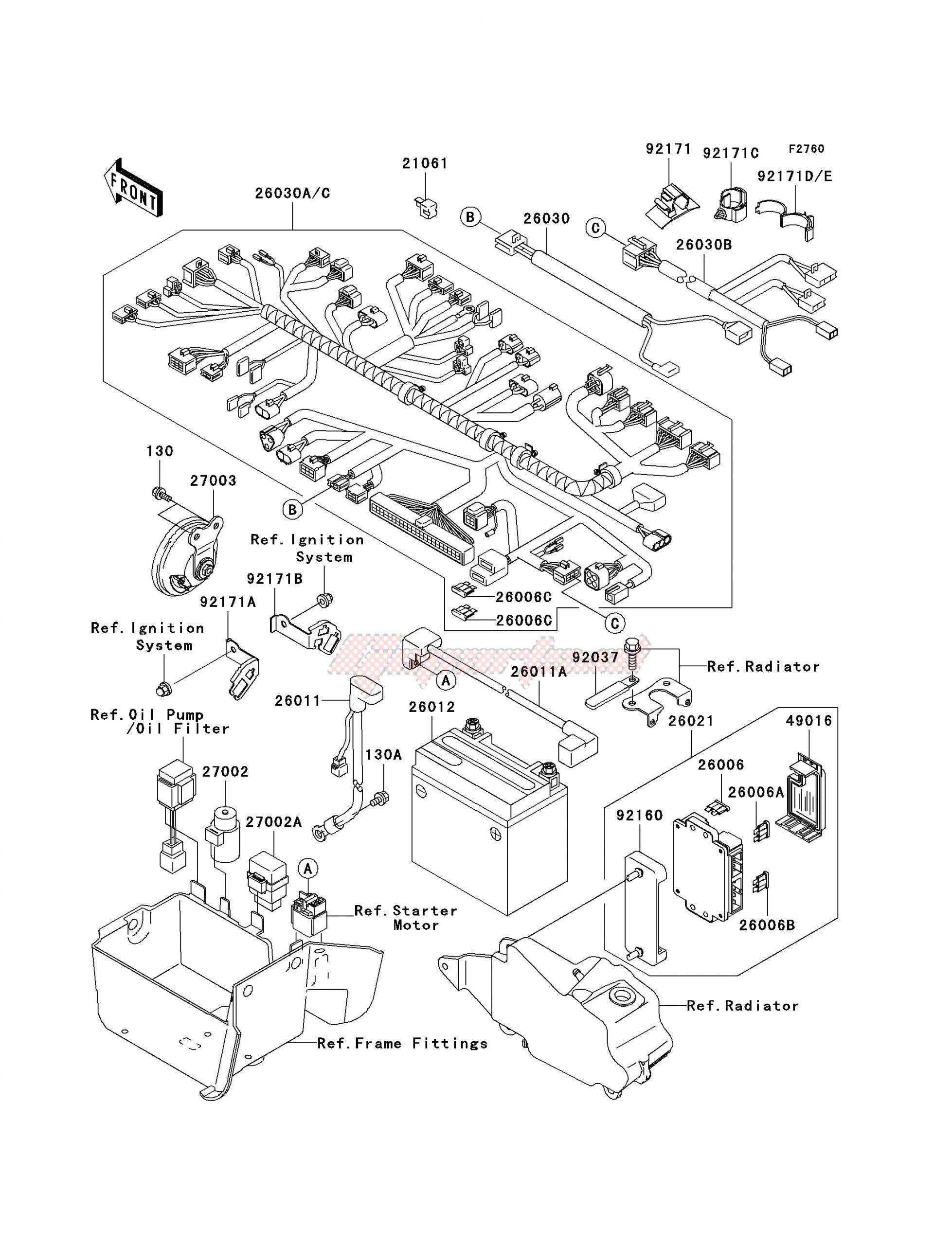 Kawasaki Ninja 250r Wiring Diagram Oem Parts Kawasaki Motorcycle Vn 1500 P Vulcan 1500 Mean