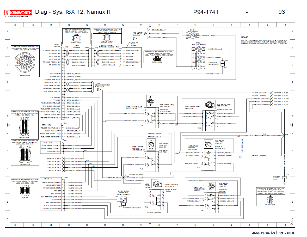 kenworth t2000 electrical wiring diagram manual pdf png