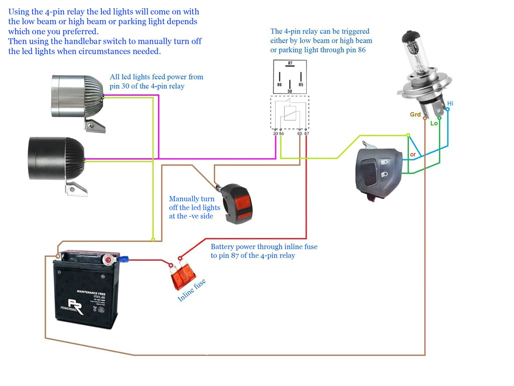Led Driving Lights Wiring Diagram Images Motorcycle Led Headlight Wiring Diagram Wiring