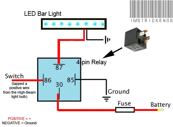 Led Light Bar Relay Wiring Diagram Awesome Cree Led Light Bar Wiring Diagram Lighting Decoratio