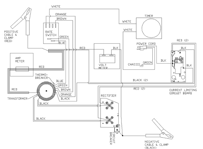 Lester Battery Charger Wiring Diagram 141 388 60 40 Amp 6 12 24 Volt Battery Charger with Engine Start