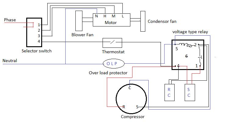 window ac wiring diagram online png