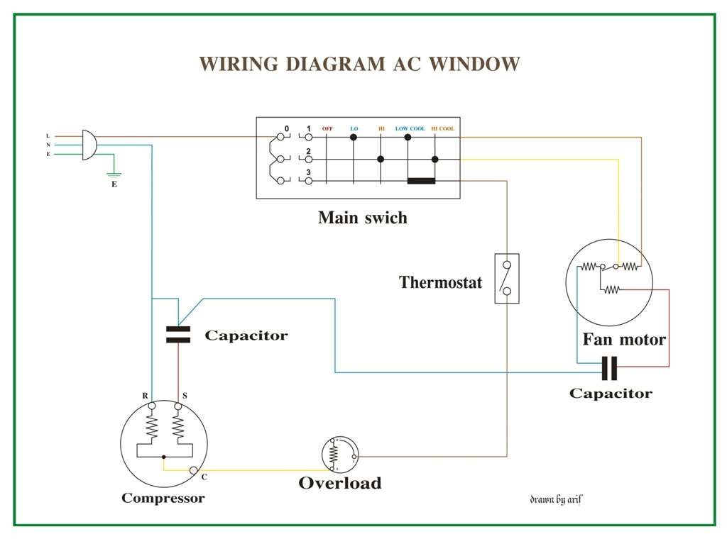 window air conditioner wiring diagram basic electronics wiring diagram jpg