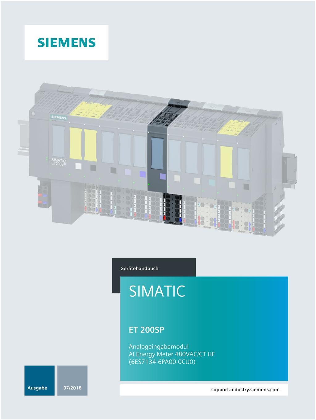 Siemens S7 200 Wiring Diagram Simatic Et 200sp Analogeingabemodul Ai Energy Meter 480vac