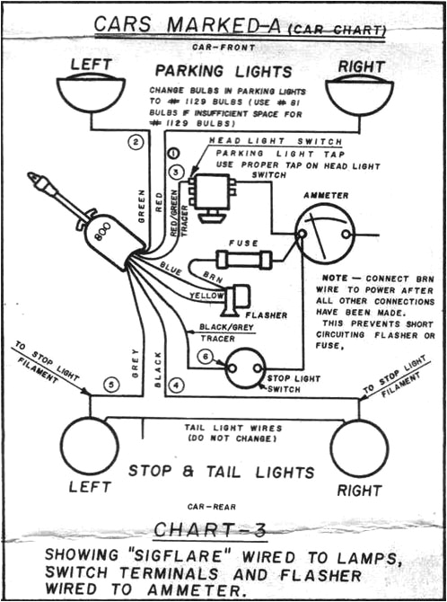 Signal Stat 900 6 Wire Wiring Diagram Ro 1756 Wiring Diagram the Wire From the Flasher Goes to
