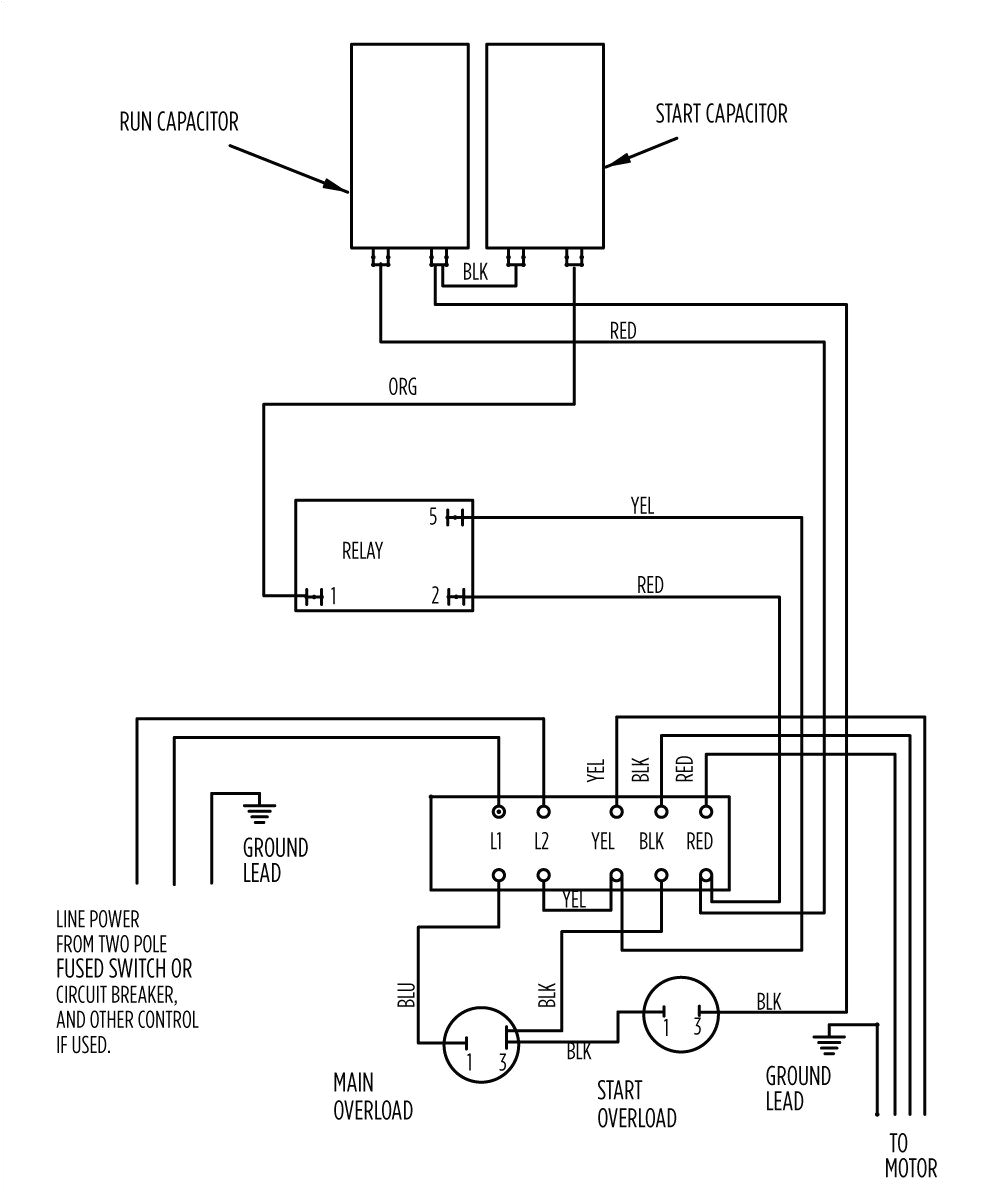 Water Pump Control Box Wiring Diagram Wiring Diagram for 220 Volt Submersible Pump with Images