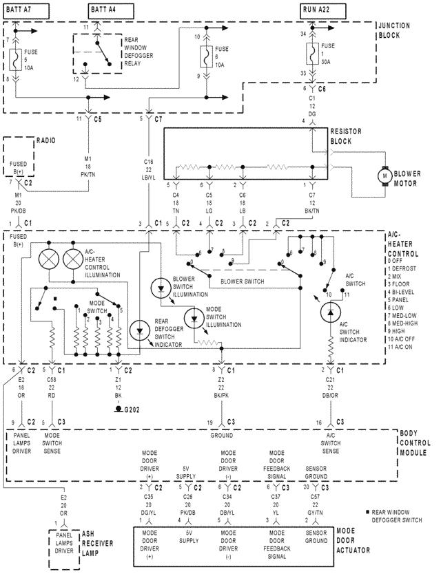 5hqpd 2000 dodge stratus diagram temperature control deck
