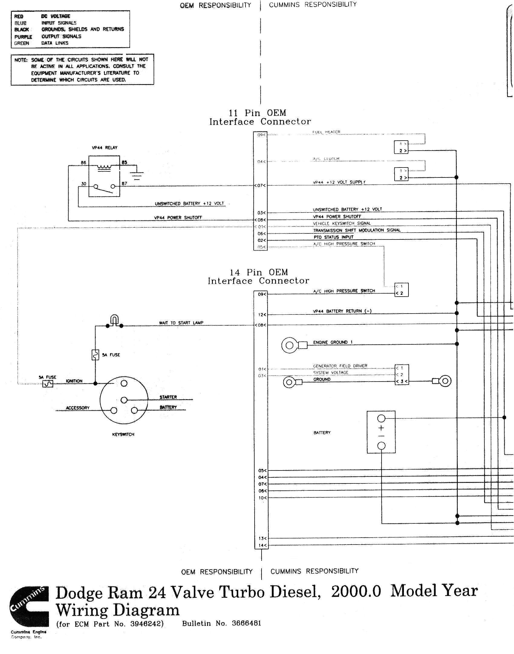 24 valve cummins fuel pump wiring diagram