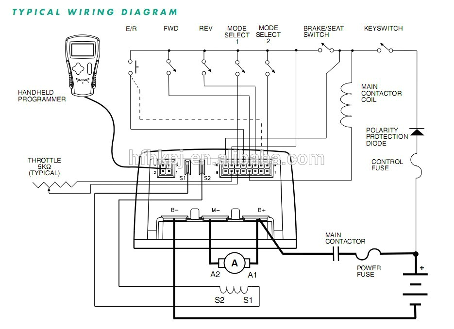 curtis controller 1206ac 5301 wiring diagram