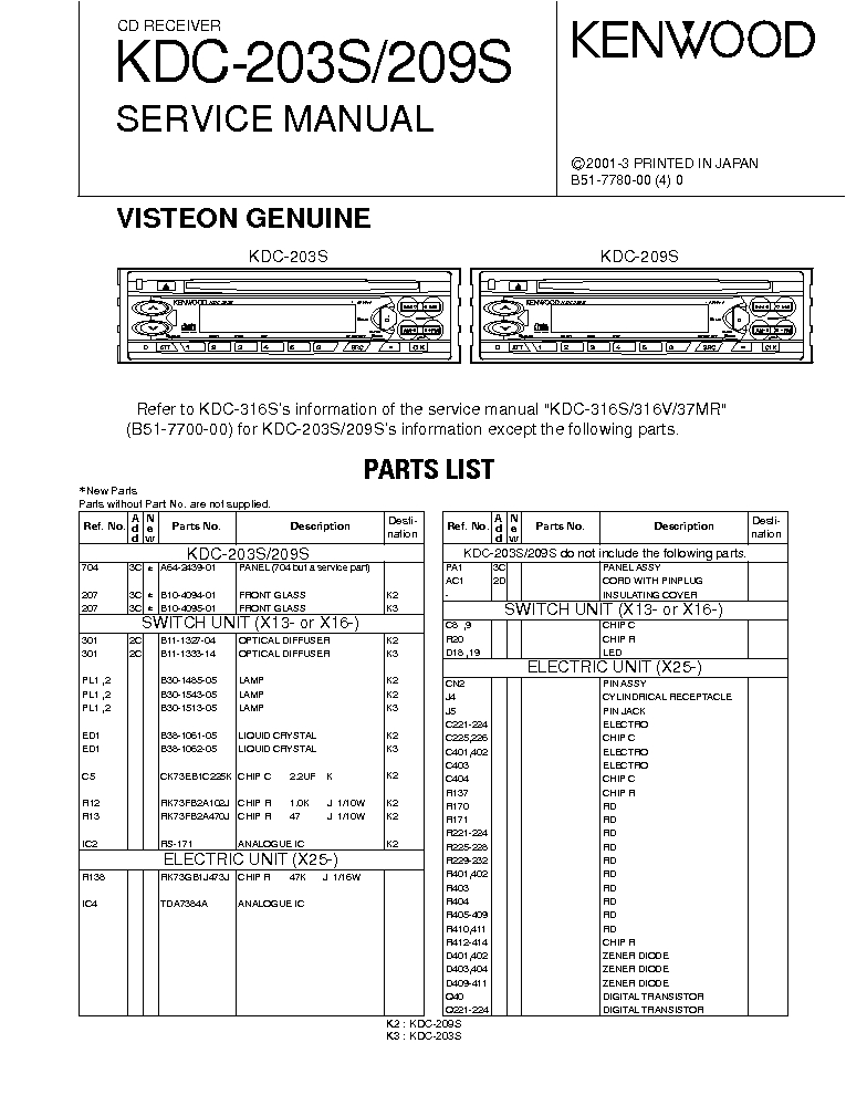 Kenwood Kdc 2022 Wiring Diagram Kenwood Dpx 3050 Mp4050 Sm Service Manual