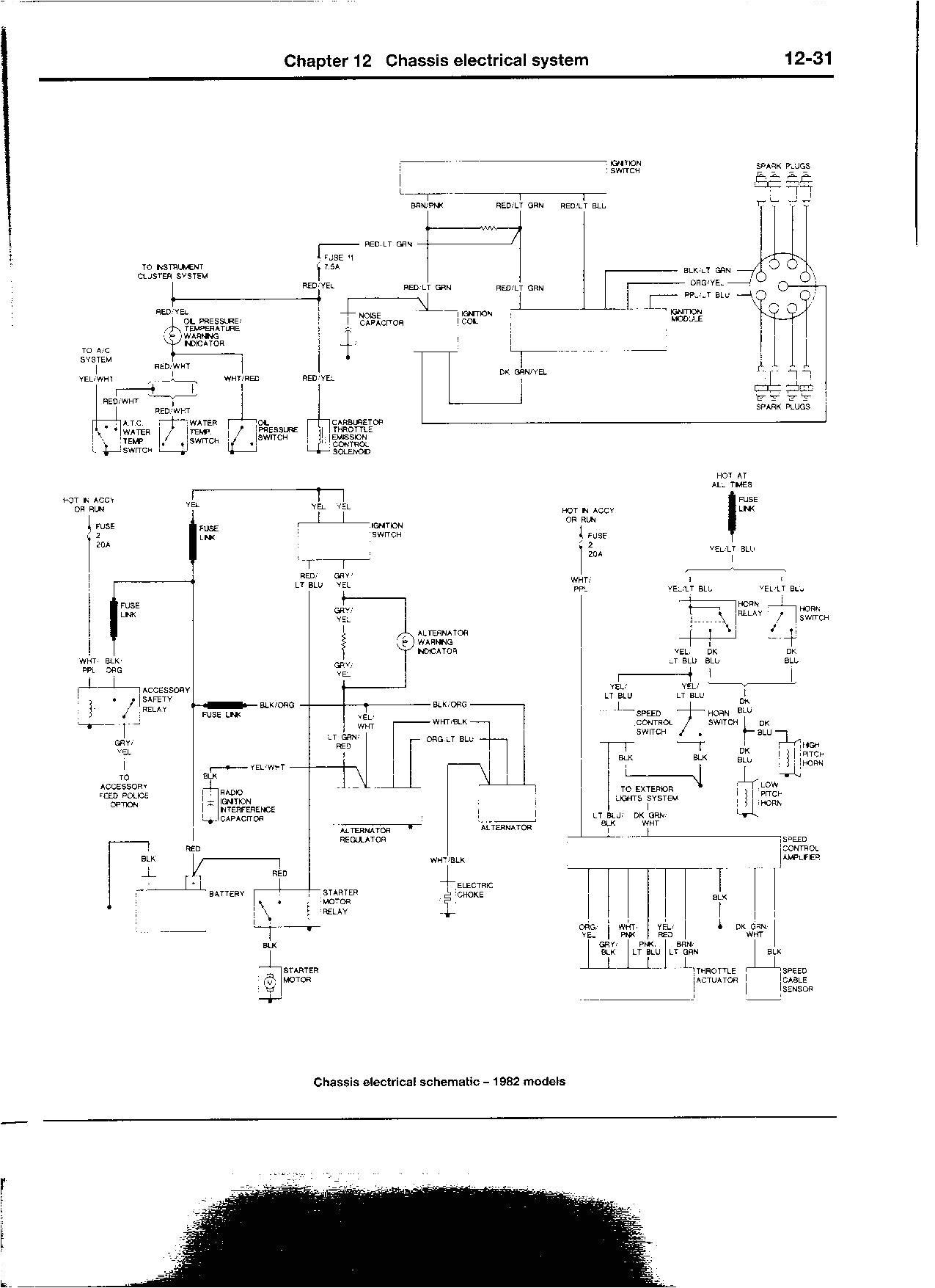 1glij 1982 ford f 150 wiring diagram shorted lug the alternator
