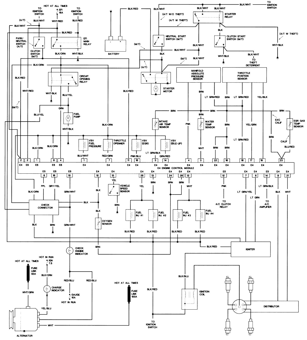 1989 toyotum camry stereo wiring diagram