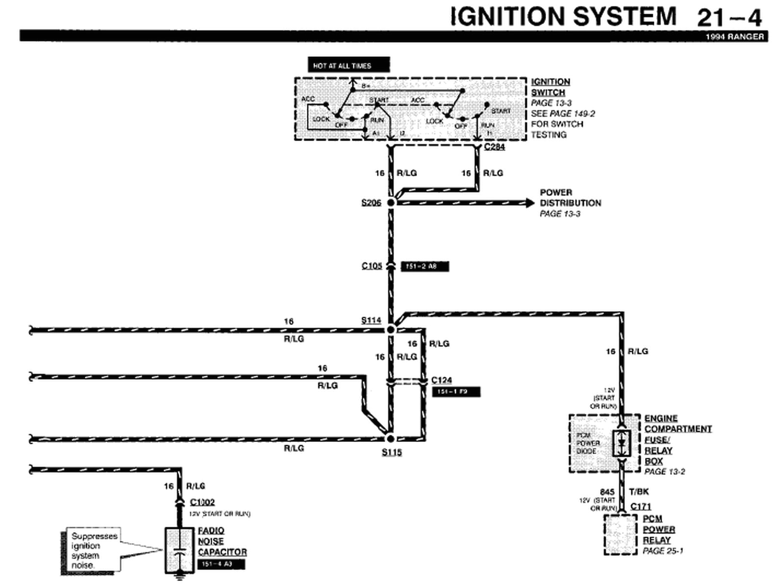 3e3p5 1994 ford ranger locate diagram electrical wiring system