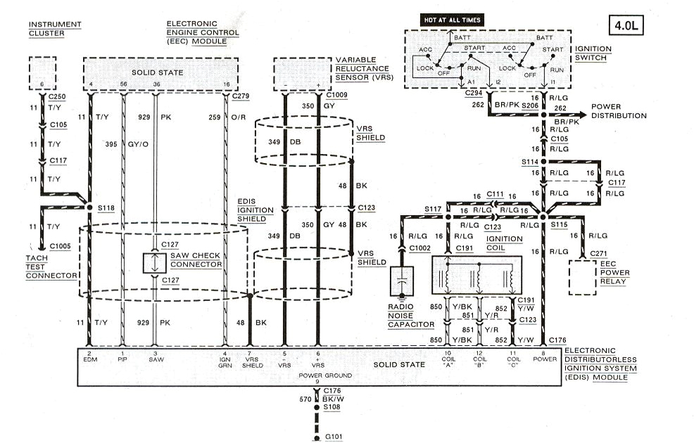 1994 ford ranger ignition wiring diagram