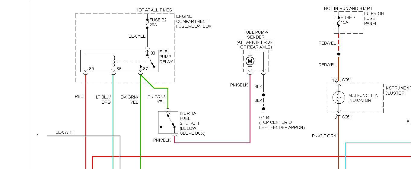 t26382930 wiring diagram 1994 ford ranger fuelpump