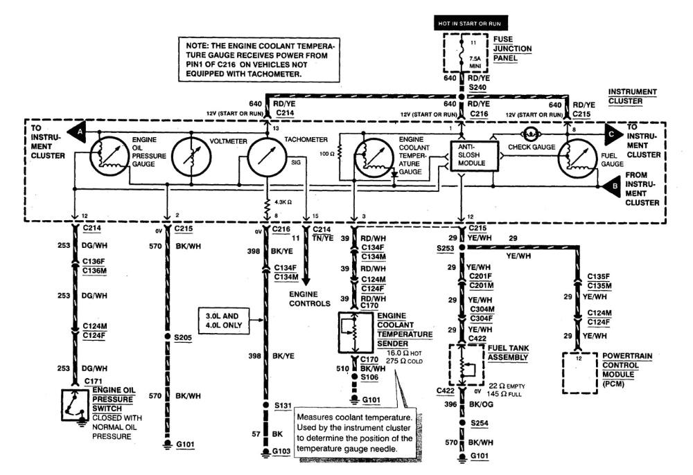 5127 1999 ford ranger charging problem