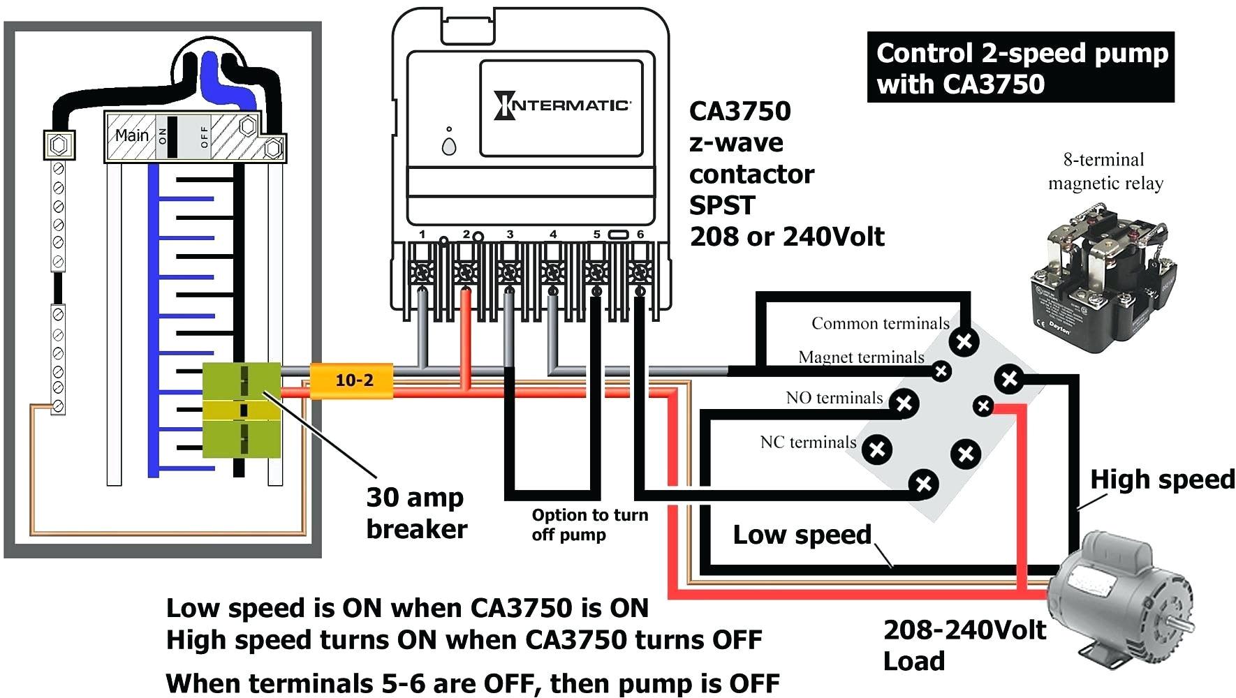2 speed pool pump motor wiring diagram