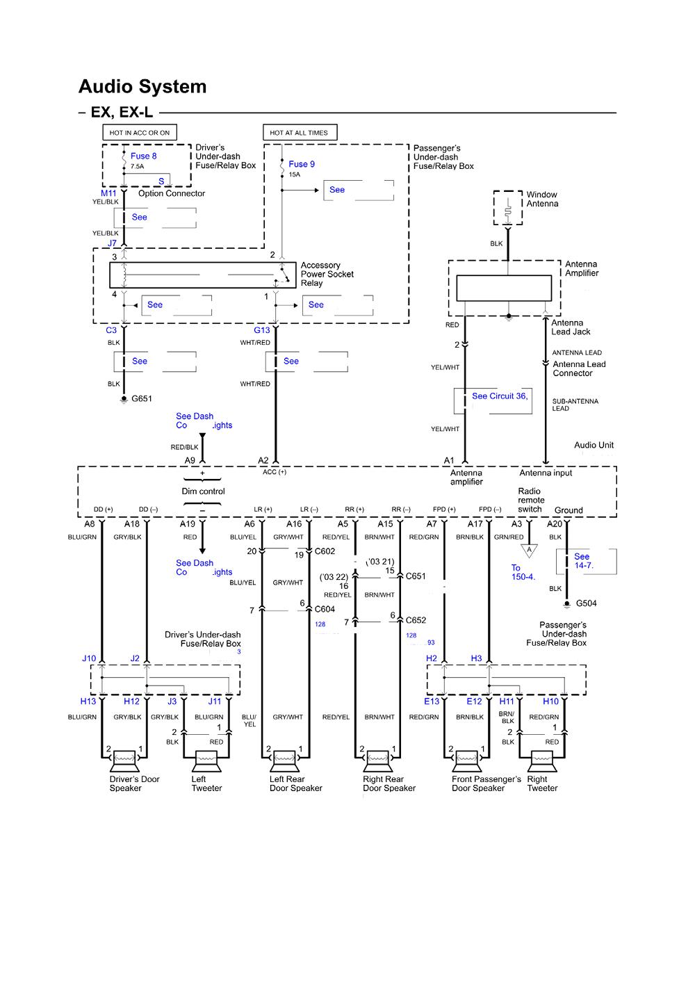 2004 honda accord wiring diagram