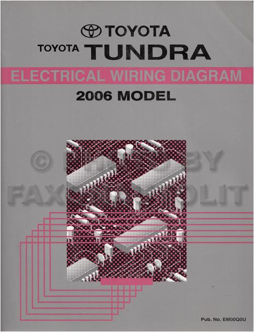2006 toyota tundra wiring diagram manual original p27512