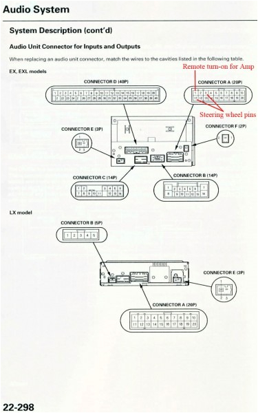 2007 Honda Pilot Radio Wiring Diagram Honda Crv Stereo Wiring Harness
