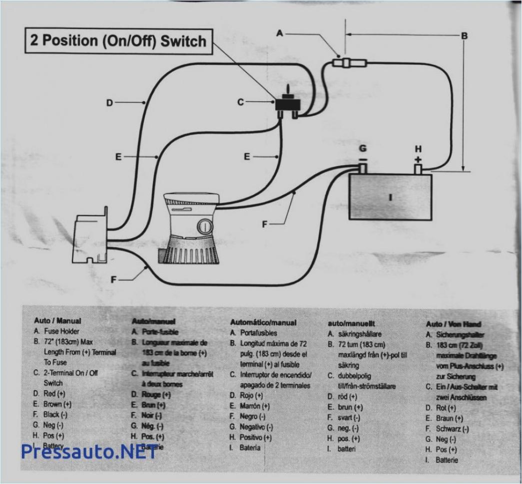 rule 1100 gph automatic bilge pump wiring diagram