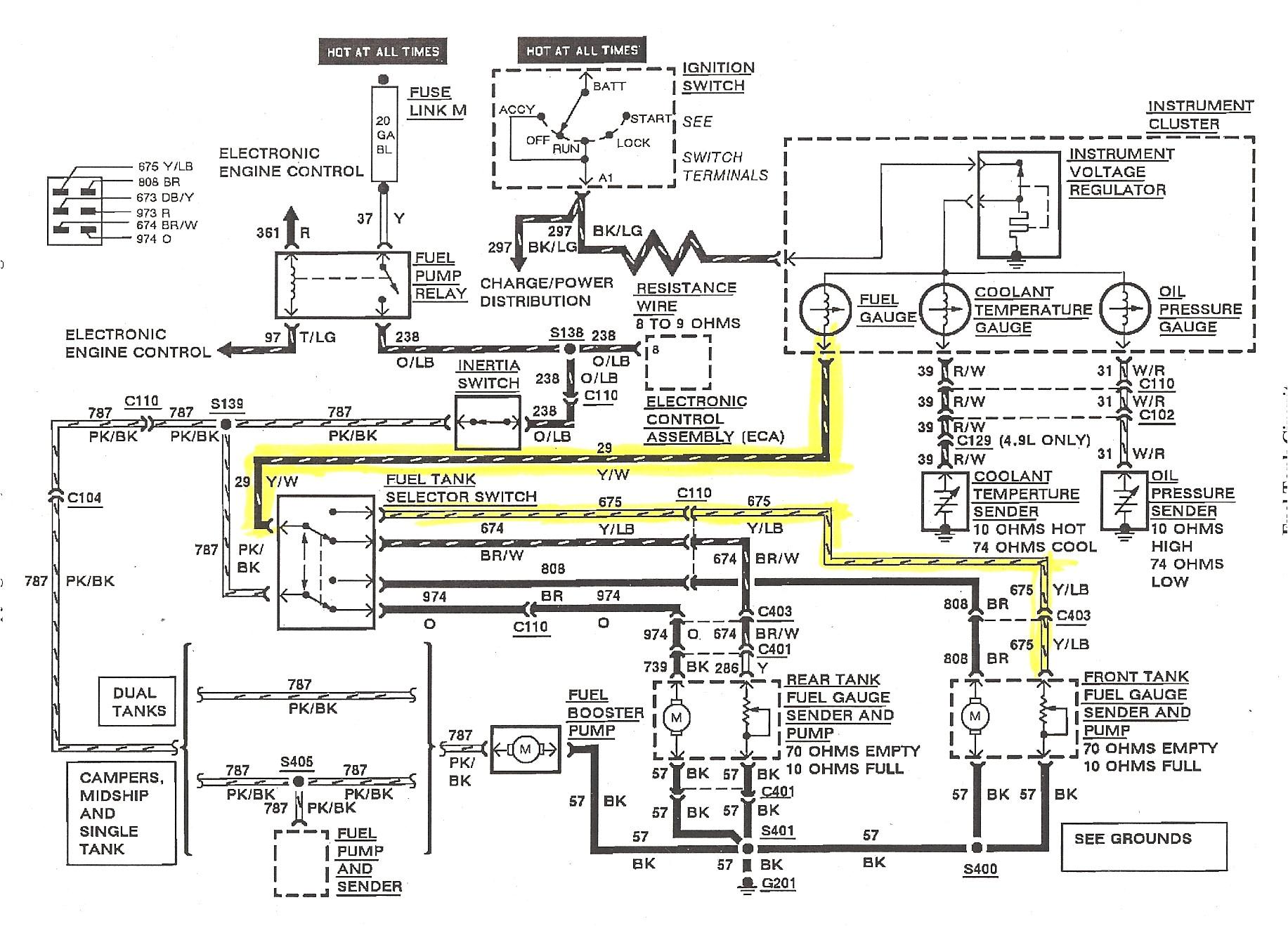 marine fuel gauge wiring diagram