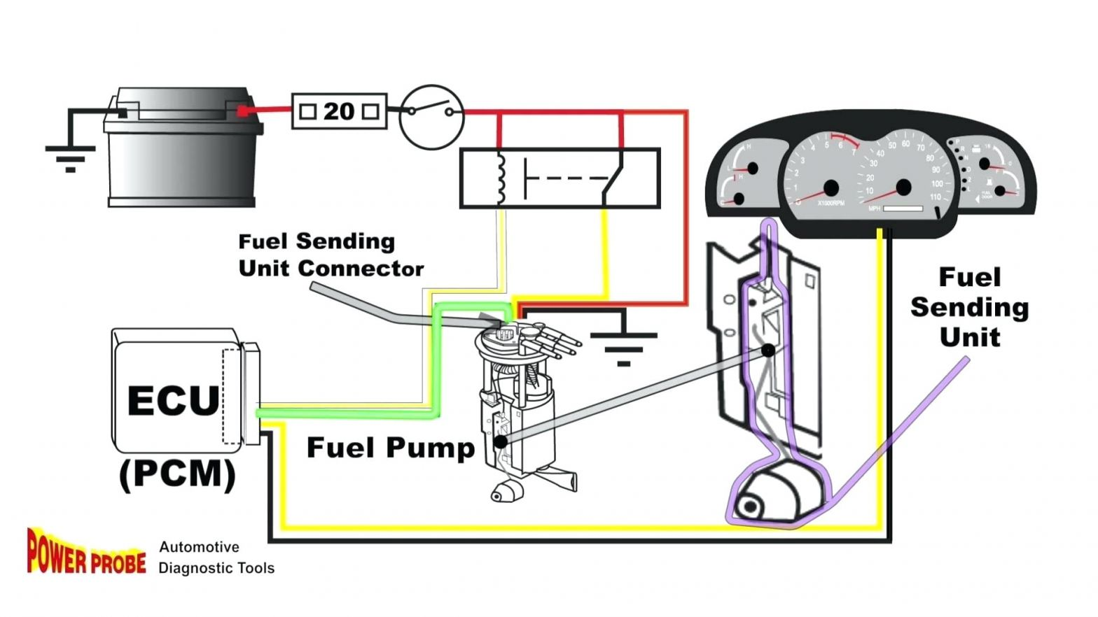 Boat Fuel Sender Wiring Diagram Sender within Boat Fuel Sending Unit Wiring Wiring
