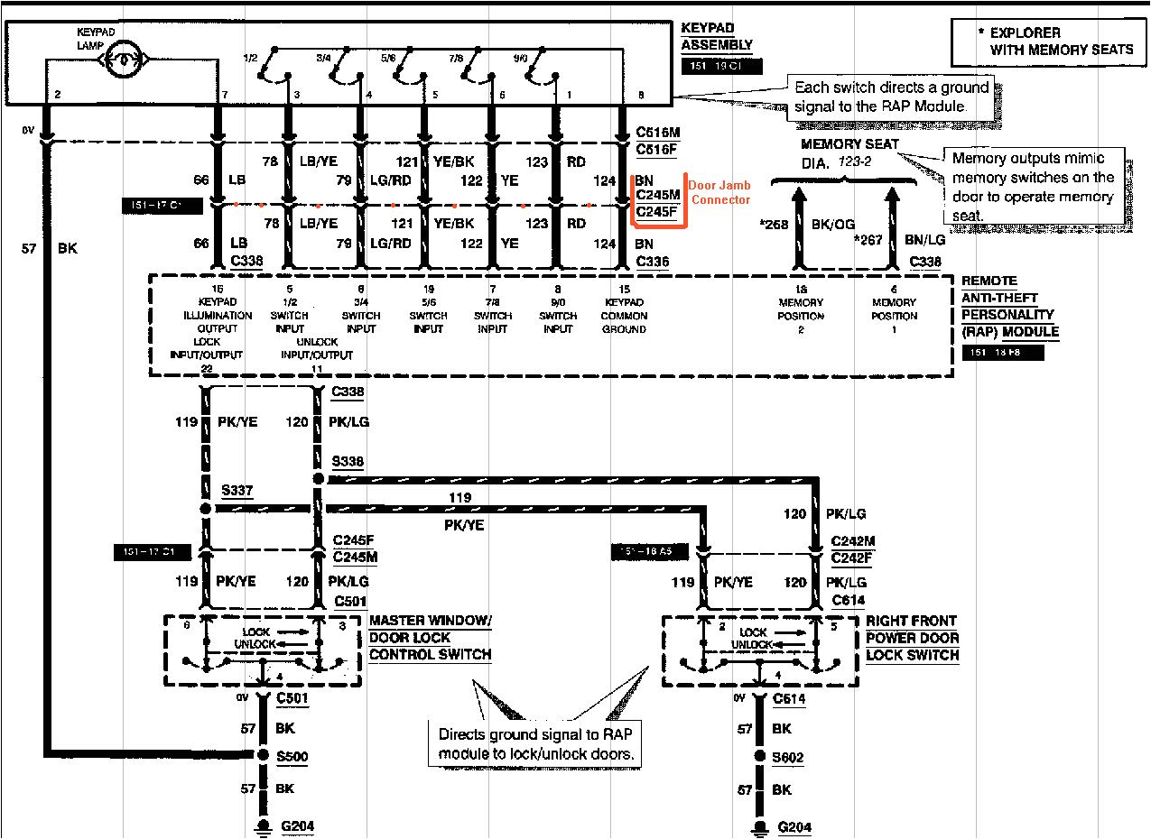 Car Keyless Entry Wiring Diagram Keypad Does Not Open Keyless Entry System Also Keypad Does