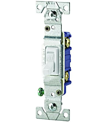eaton cooper wiring 1301 7w toggle switch quiet 1 pole framed grounding white kada 0894