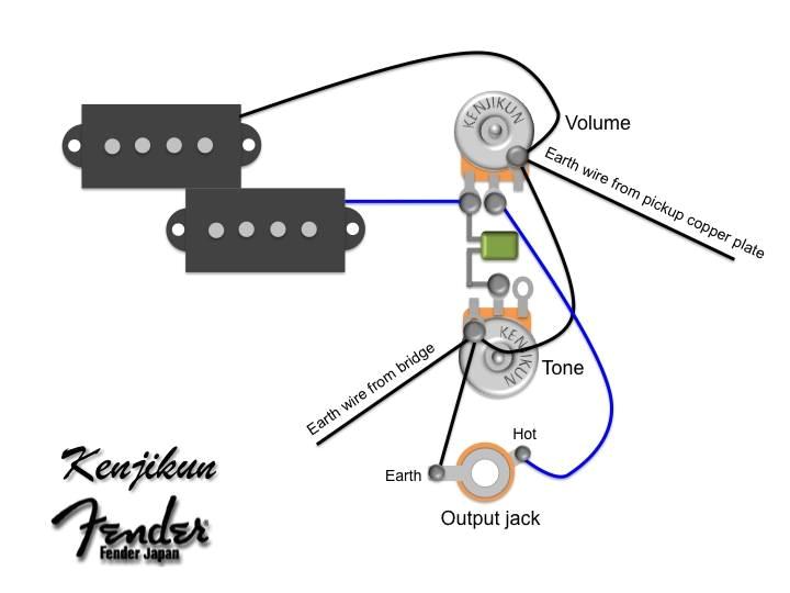 Fender Squier Bass Wiring Diagram Fender Squier P Bass Wiring Diagram