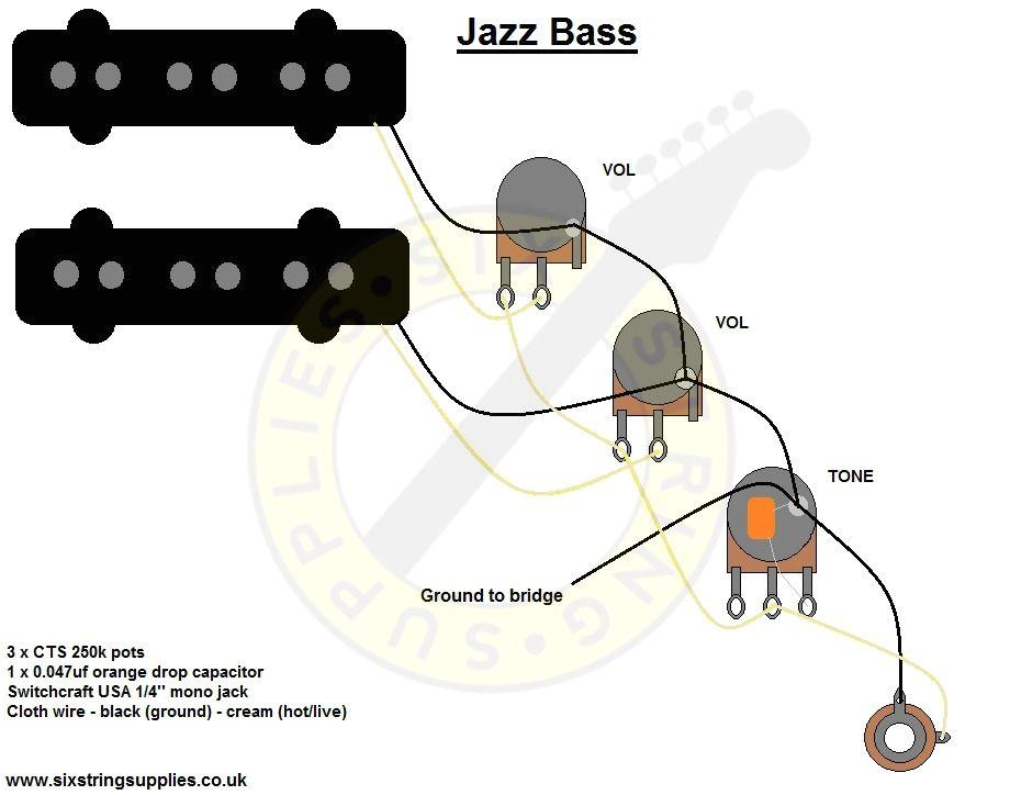 pj bass pickup wiring diagram